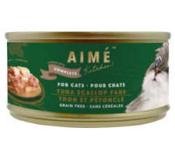 Aimé Kitchen 經典系列 上湯煮吞拿魚扇貝 貓罐 85g (綠罐)