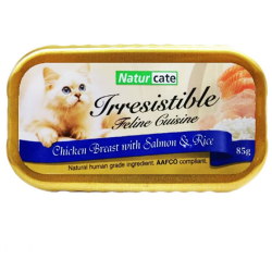 Naturcate 雞胸肉+三文魚 、飯(肉汁) (NC85-10) 85g