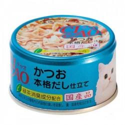 CIAO 鰹魚+鰹魚湯底 貓罐 85g A-89