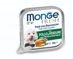 Monge Fresh 雞肉蔬菜 狗餐盒 100g