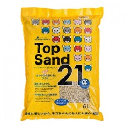 Top Sand 21α 有機 雙孔 通心豆腐貓砂 6L x3包優惠
