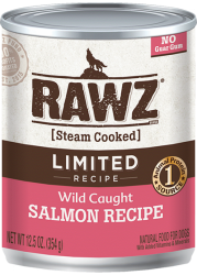 Rawz Real Wild Caught Salmon Limited Recipe Dog Can Food 單一動物蛋白野生三文魚全犬罐頭 354g x12
