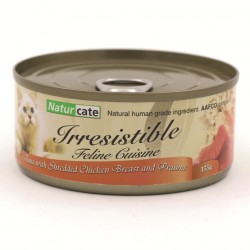 Naturcate NC#3 吞拿魚+雞+海蝦 貓罐頭 155g