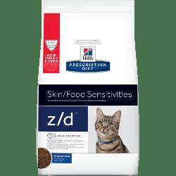 Hill's z/d 皮膚/食物敏感 獸醫配方乾貓糧 4磅
