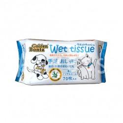 Golden Bonta 蘆薈配方寵物濕紙巾 (70片) x4包優惠