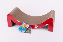 M字型紅色瓦通紙貓抓板 (50cm 長X 26cm 闊X 14cm高)