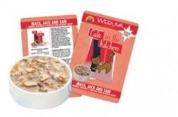 Weruva Cats in the Kitchen Mack, Jack and Sam 三文魚+鮪魚+吞拿魚+鴨肉 美味肉汁 濕包  85g x12罐 原箱優惠