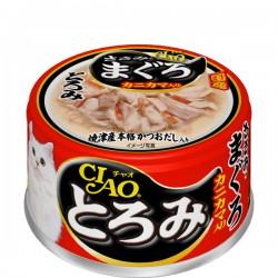 CIAO 雞胸肉+金槍魚+蟹柳 (綠茶消臭配方) A43 x24罐優惠
