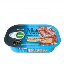 Main Course全營養主食罐-白身鮪魚+吻仔魚 115g x6罐優惠