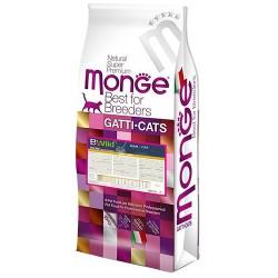 Monge 天然貓糧 - 低穀物 成貓 野生兔肉 配方 10kg (22lb)