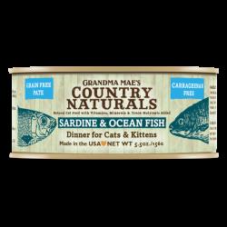 Country Naturals 無穀物沙甸魚深海魚醬煮配方 貓罐頭 5.5oz