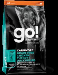 GO! SOLUTIONS™  活力營養系列 無穀物雞肉+火雞+鴨肉成年犬狗糧配方 12磅 (綠松色)