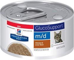 [凡購買處方用品, 訂單滿$500或以上可享免費送貨]  Hill's m/d 葡萄糖/體重管理 (燉雞及雞肝口味) 處方貓罐頭 2.9oz x24罐 原箱優惠