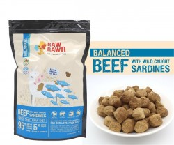 Raw Rawr 牛肉+沙甸魚凍乾生肉糧 400g x2包優惠