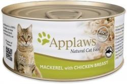 Applaws 天然貓罐 鯖魚+雞胸 湯汁貓罐 70g