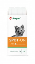 Amigard Spot-On 安格 狗防蚤滴 15kg以下 3×2ml