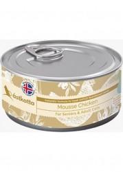 Astkatta 慕絲系列 - 全天然純雞肉高齡及成貓慕絲 主食貓罐頭 80g x24罐優惠
