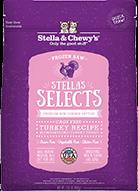 Stella & Chewys SELECTS 尊選冷凍生肉貓糧 - 放養火雞配方 (粉紅色) 1lb  x 4包優惠