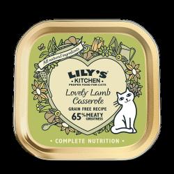 Lily's Kitchen 鮮羊肉鍋 貓主食罐 85g (綠色) x19罐 原箱優惠
