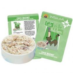 Weruva 貓咪廚房系列濕包 85g ~ Chick Magnet 無骨及去皮雞胸肉、鯖魚 x12罐 原箱優惠