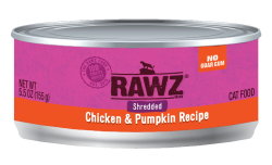 RAWZ 雞胸肉絲+南瓜 主食罐 5.5oz x24