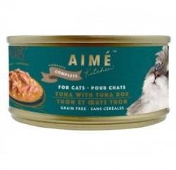 Aimé Kitchen 經典系列 鮮魚子伴吞拿魚   貓罐 85g (藍綠罐) x24罐 原箱優惠