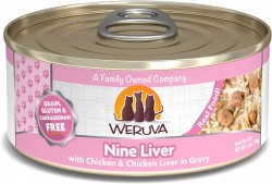 Weruva Nine Liver 大塊雞柳+雞肝+美味肉汁 貓罐頭 3oz 到期日: 31/08/2021