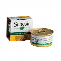 Schesir 啫喱系列 161 雞肉絲蟹肉飯 貓罐頭 85g 到期日: 14/09/2021