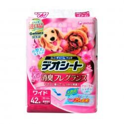 【日本Unicharm消臭大師】花卉香狗尿墊 LL(42片/包) 60 X 44cm
