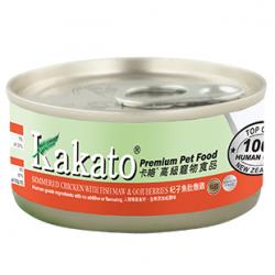 Kakato 卡格 杞子魚肚燉雞罐頭 貓狗罐頭 70g