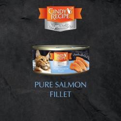 Cindy's Recipe Signature 系列 - 三文魚肉湯 貓主食罐 70g (粉藍色) x12罐 原箱優惠