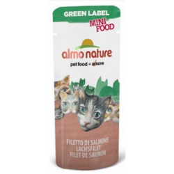 Almo Nature GREEN LABEL MINI FOOD 三文魚柳貓小食