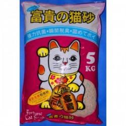 <<穿袋>> 富貴貓砂 - 茉莉花抗菌粗條砂 (B-1) 5 KG