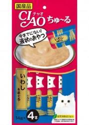 Ciao SC-145 沙丁魚+吞拿魚醬 綠茶消臭配方 (內含4小包) x2包優惠