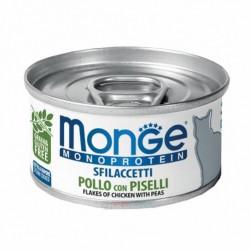 Monge 單一蛋白貓罐頭 - 鮮雞肉+豌豆 80g x24罐優惠