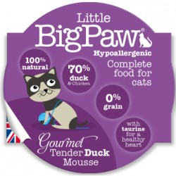 Little Big Paw 傳統鮮嫩鴨肉貓餐盒 mousse 原盒8個優惠