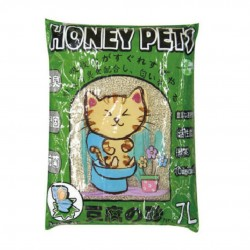 Honey Pets (綠茶味) 豆腐貓砂 7L x12包優惠 (共兩箱)