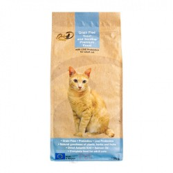 Gold-D 無穀物鱒魚、沙甸魚成貓糧 2kg