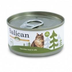 Salican 挪威森林 白肉吞拿魚 啫喱貓罐頭  85克