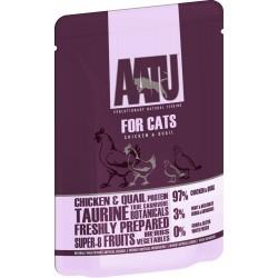 AATU  全配方貓濕糧包 雞+鵪鶉 85g