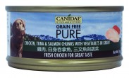 Canidae Pure 無穀物 全犬主食罐頭 雞肉,白身吞拿魚, 三文魚與蔬菜 70g