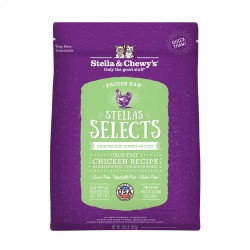 Stella & Chewys SELECTS 尊選冷凍生肉貓糧 - 放養雞配方 (粉綠色) 1lb x 4包優惠
