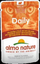 Almo Nature Dailymenu 鴨肉及雞肉 貓濕糧 (袋裝) 70g 到期日: 1/9/2021