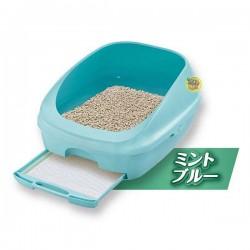日本 Unicharm 消臭大師 半封閉型雙層貓砂盤套裝 (藍色)