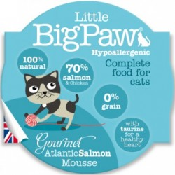 Little Big Paw 傳統大西洋三文魚貓餐盒 mousse 原盒8個優惠