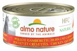 Almo Nature - HFC Natural系列 雞肉+鮮蝦 (5124) 貓罐頭 150g