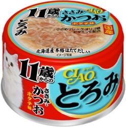 Ciao (11歲) 雞胸肉+吞拿魚 (扇貝味) 80g A-47 x24罐優惠