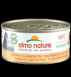 Almo Nature - HFC Natural系列 吞拿魚+鮮蝦 (5128) 貓罐頭 150g