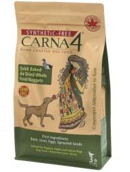 Carna4 風乾慢煮 無穀物 鴨肉+胚芽配方 全犬配方 3磅