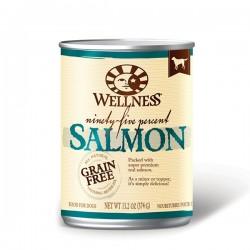 Wellness 95% 鮮三文魚肉﹙無穀物﹚ 狗罐頭 13.2oz  到期日: 11/2021